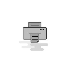 printer web icon flat line filled gray icon vector image