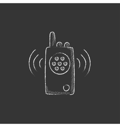Radio set Drawn in chalk icon vector image