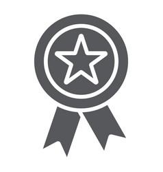 reward glyph icon badge and medal award sign vector image