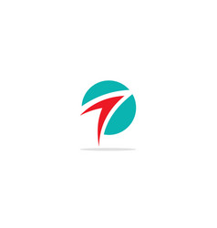 Round arrow up abstract logo vector