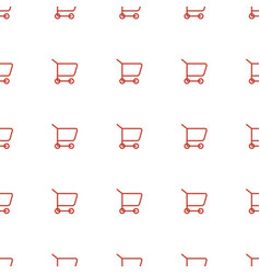shopping cart icon pattern seamless white vector image
