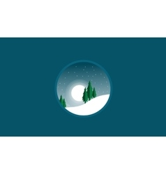 Silhouette of christmas with spruce scenery winter vector