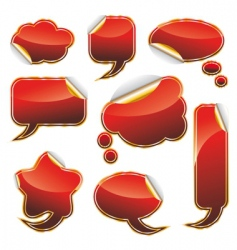 speech bubble frame collection vector image