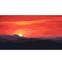 Sunrise in mountains vector
