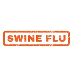 Swine Flu Rubber Stamp vector