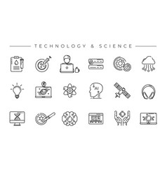 technology and science concept line style vector image