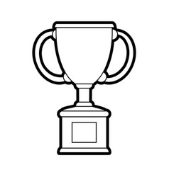 Trophy silhouette vector