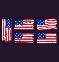 usa american grunge flag us flags graphic design vector image