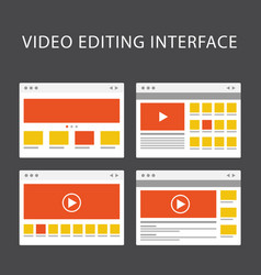 video editing software interface - media vector image