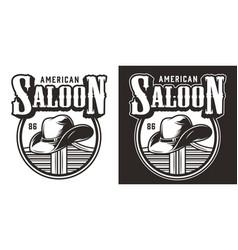 vintage wild west logo vector image