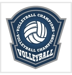 Volleyball championship logo with ball vector