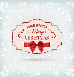 we wish you a very merry christmas background vector image