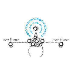 Wifi repeater drone composition of cogs vector