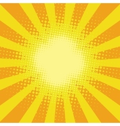 Yellow sunbeam rays vector image