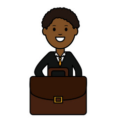 young black businessman avatar character vector image