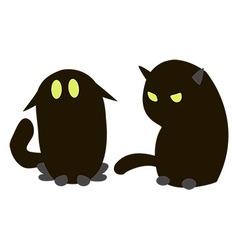 Blac cats vector