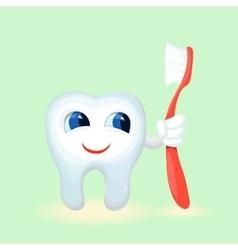 Children teeth care and hygiene cartoon flat vector image vector image