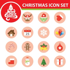 Christmas symbol icon set vector image