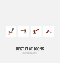 flat icon court set of court justice legal and vector image vector image