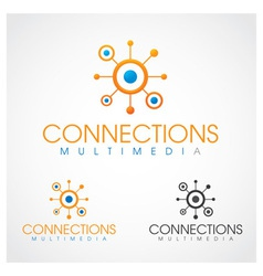 Connections Multimedia vector image vector image