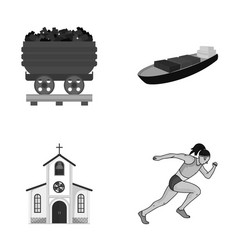 Ecology industry trade and other monochrome icon vector