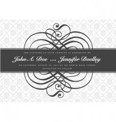 gray ornate swirl banner vector image vector image