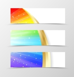 Set of banner rainbow design vector image vector image