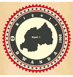 Vintage label-sticker cards of Rwanda vector image vector image