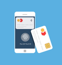 Bank card and mobile payment near field vector