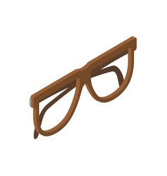 brown glasses for eyesight isolated vector image vector image
