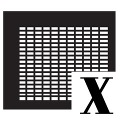 excel icon on white background vector image vector image