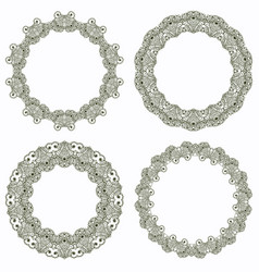 set of lace frame vector image vector image