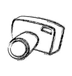 sketch camera photo picture equipment tourism vector image