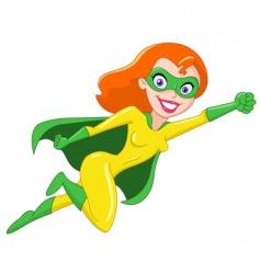 super heroine vector image