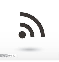 wifi flat icon sign internet connection vector image vector image