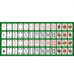 Poker playing cards full deck vector