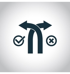 Selection of roads simple icon vector image