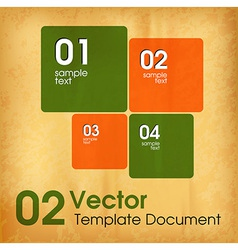 Squares vector image vector image
