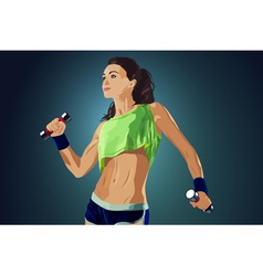 Young sports sexy fitness woman vector image vector image