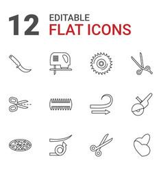 12 cut icons vector