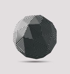 3d abstract polygonal ball vector image vector image