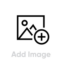 add image icon editable outline vector image