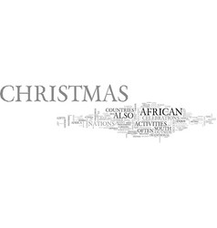 African christmas text word cloud concept vector