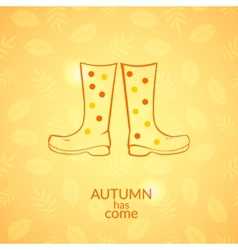 Autumn gumboots icon vector