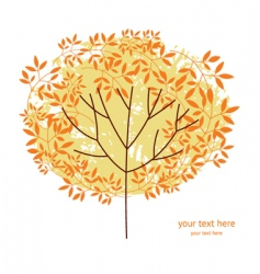 autumnal tree vector image vector image