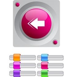Back arrow color round button vector