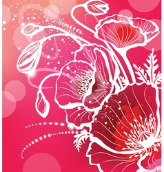 background with flowers poppy vector image