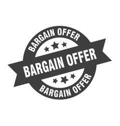 bargain offer sign offer round ribbon vector image