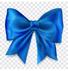 Big blue bow vector