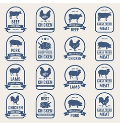Big set of meat labels 001 vector image
